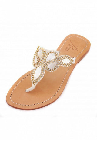 Pasha Hawaii Gold Leather Sandals