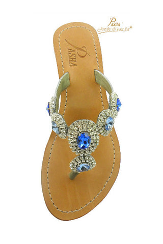 Pasha Blue Wedge Sandal