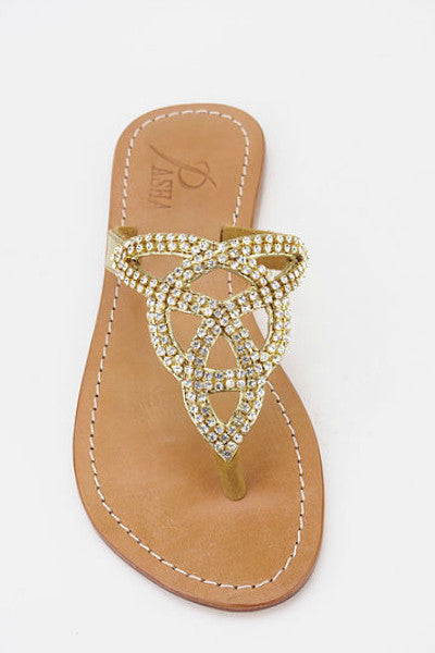 0f9e35efb5b7 Pasha Tahiti Gold Leather Sandals - Jewelry for your feet ...