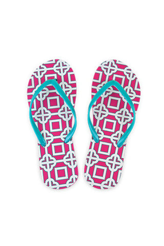 668fa895f All For Color Pink Charmer Beach Flip Flops