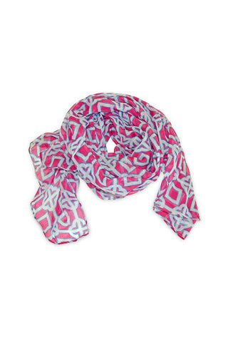 All For Color Pink Charmer Scarf