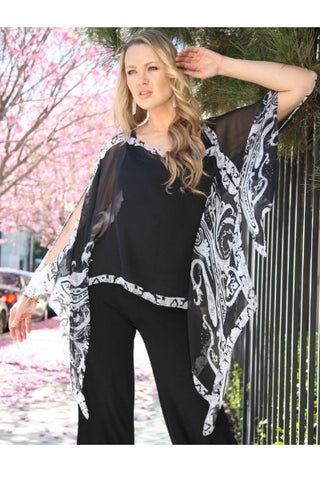 Silky Poncho, Scarf, Dress Topper