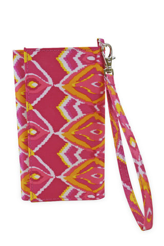 All For Color Sunrise Ikat Wristlet Wallet