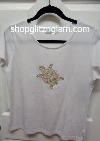 Beachy White Turtle Top