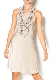 Union of Angels Alexis Taupe Halter Dress