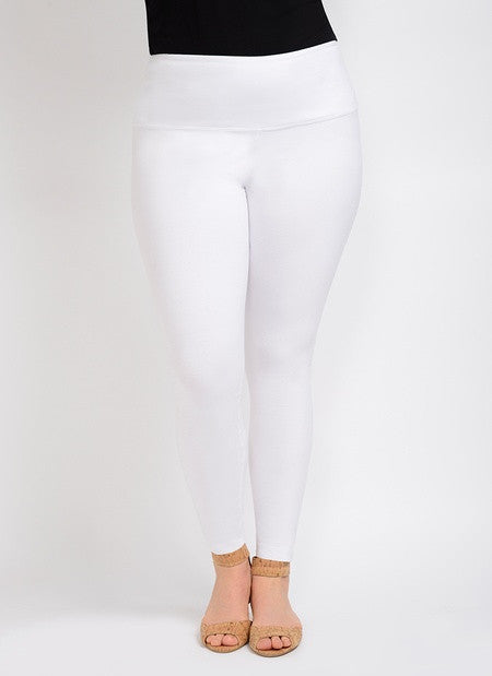 Lysse White Cotton Leggings