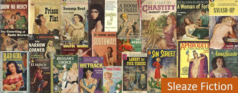 Vintage Paperback Books Featuring Sleaze Themes