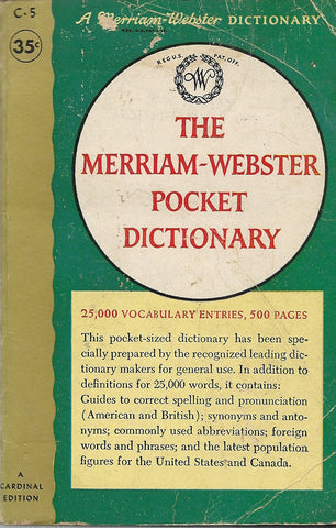 The Meriam-Webster Pocket Dictionary
