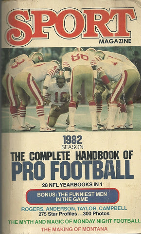 The Complete Handbook of Pro Football 1982 Season