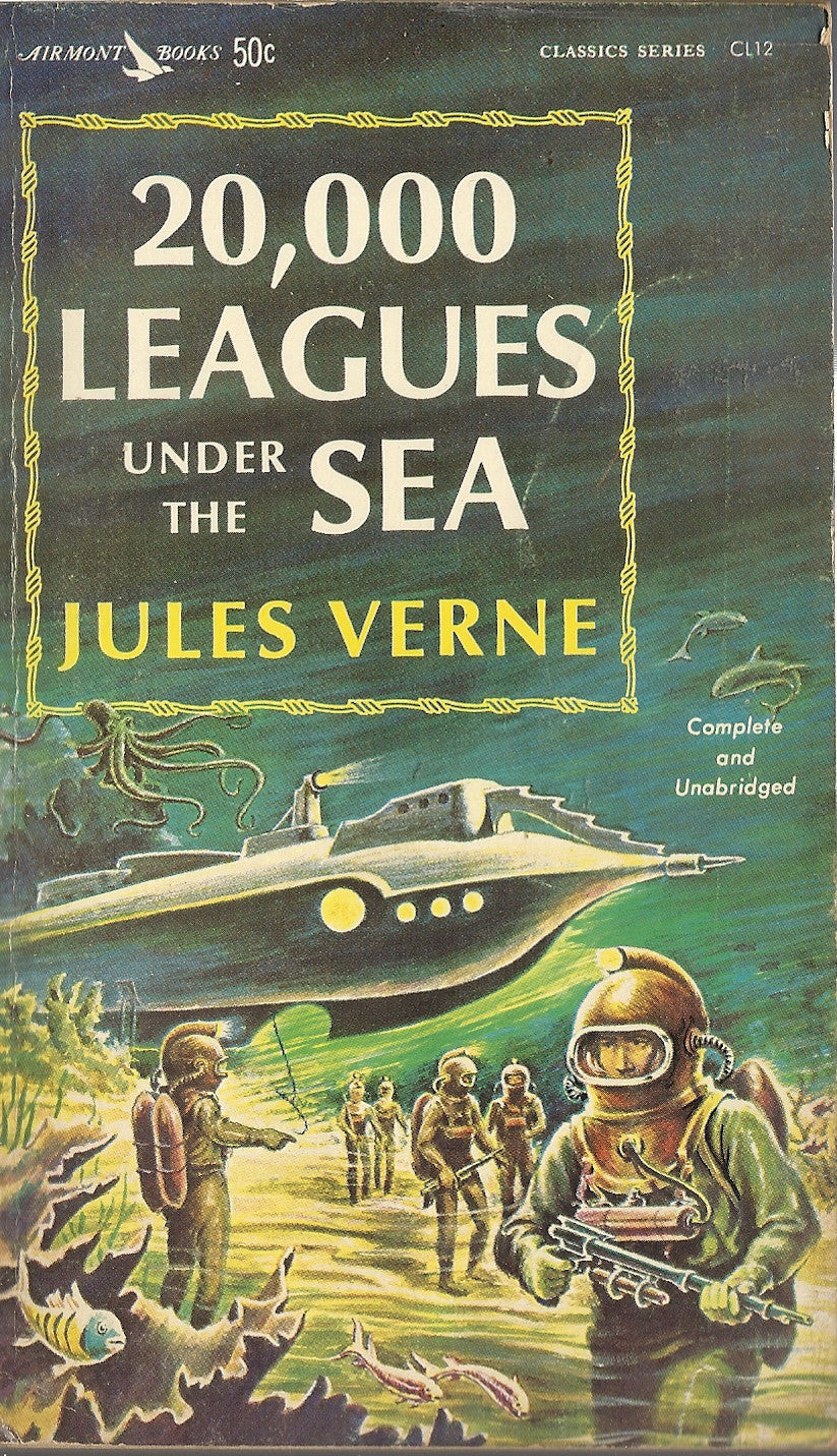 Image result for 20000 leagues under the sea book cover