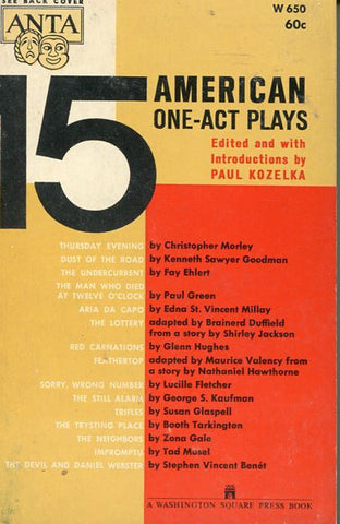 15 American One Act Plays