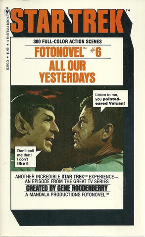 Star Trek Fotonovel #6 All Our Yesterdays