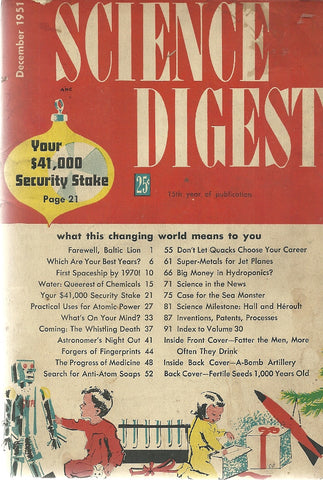 Science Digest December 1951