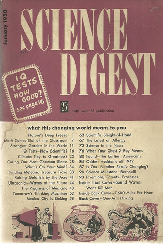 Science Digest January 1950