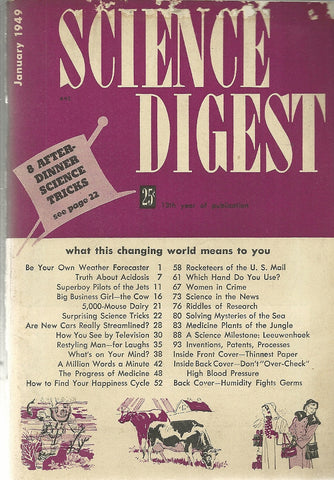 Science Digest January 1949