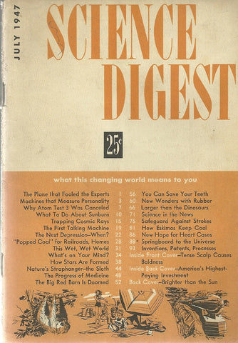 Science Digest July 1947