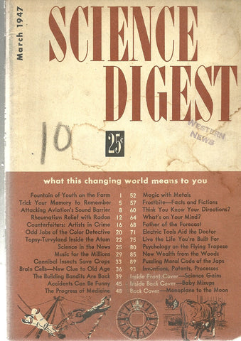 Science Digest March 1947
