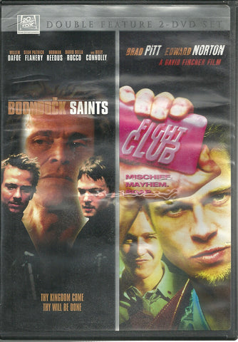 THE BOONDOCK SAINTS/ FIGHT CLUB- Double Feature [DVD 2012, 2 Disc, Widescreen]