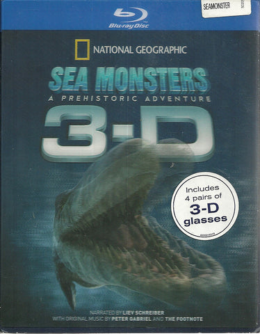 Sea Monsters (Blu-ray Disc, 2009, 3D)