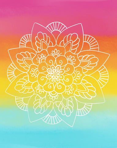 Rainbow Mandala Print —The C Glass Studio