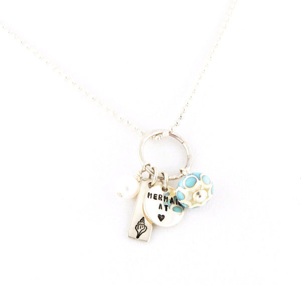 Mermaid at Heart Necklace —The C Glass Studio