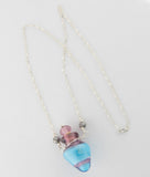 Vessel Bead Necklace Purple and Blue —The C Glass Studio