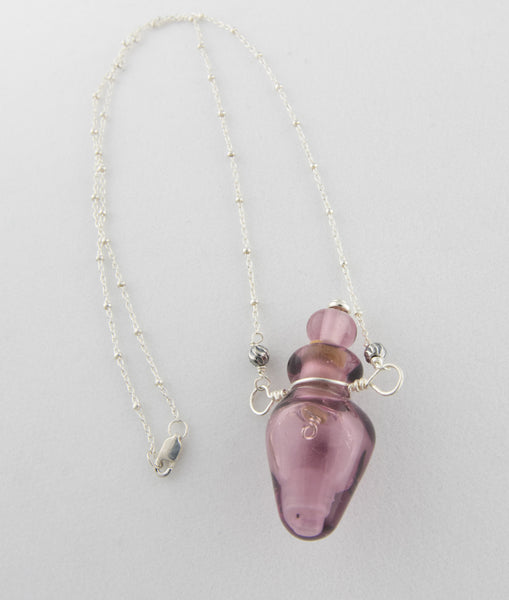 Vessel Bead Necklace in Purple —The C Glass Studio