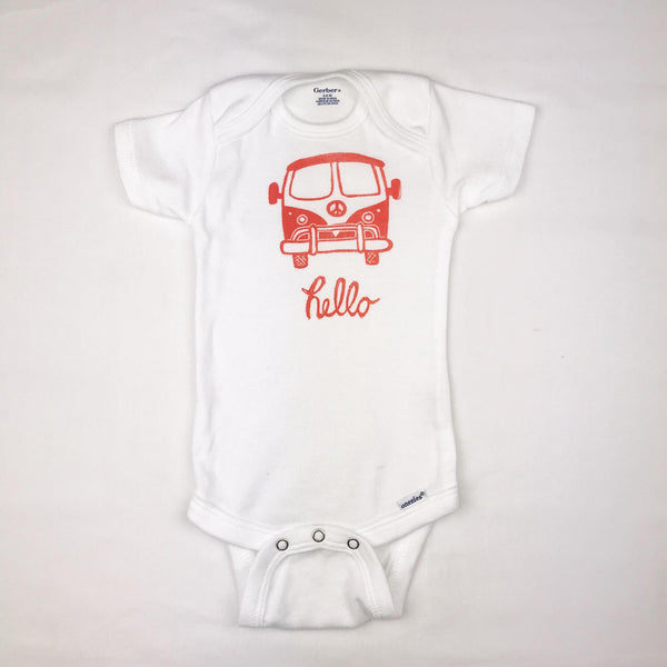 VW Bus One Piece Baby Outfit —The C Glass Studio