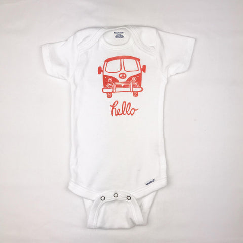 VW Bus One Piece Baby Outfit
