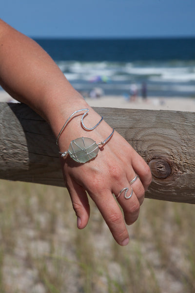 Wave Bracelet Cuff —The C Glass Studio