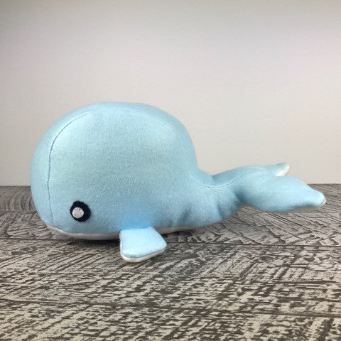 Handmade Recycled Whale Stuffed Animal