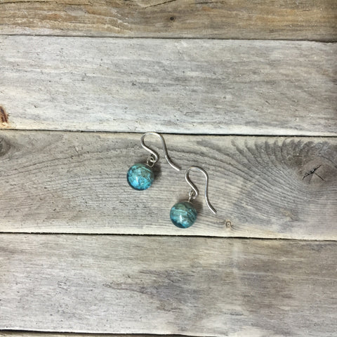 NJ BEACH SAND PEARL EARRINGS —The C Glass Studio