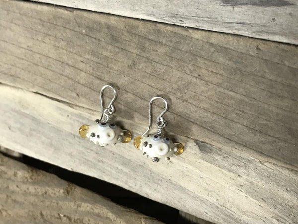 Blowfish earrings —The C Glass Studio