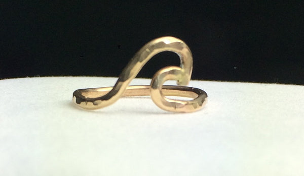 Gold Filled Wave Ring —The C Glass Studio