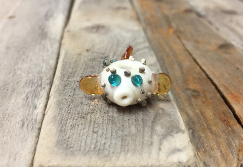 Pufferfish Bead —The C Glass Studio