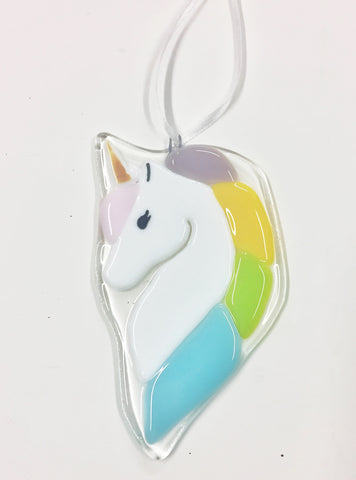 Unicorn Ornament —The C Glass Studio