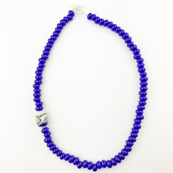 Handmade Glass Bead Necklace —The C Glass Studio