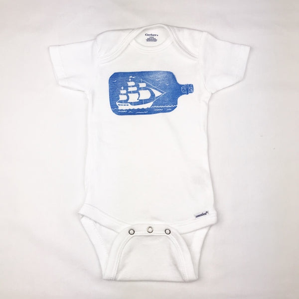 Ship in a Bottle One Piece Baby Outfit —The C Glass Studio