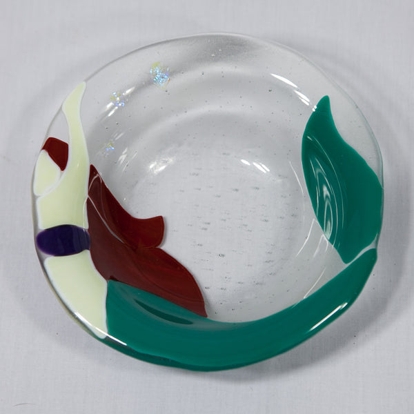 Mermaid Fused Glass Bowl —The C Glass Studio