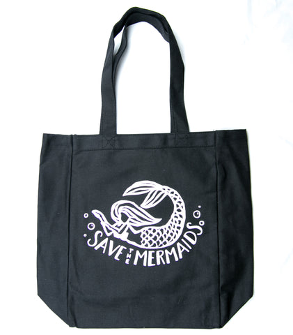 Save the Mermaids Canvas Tote