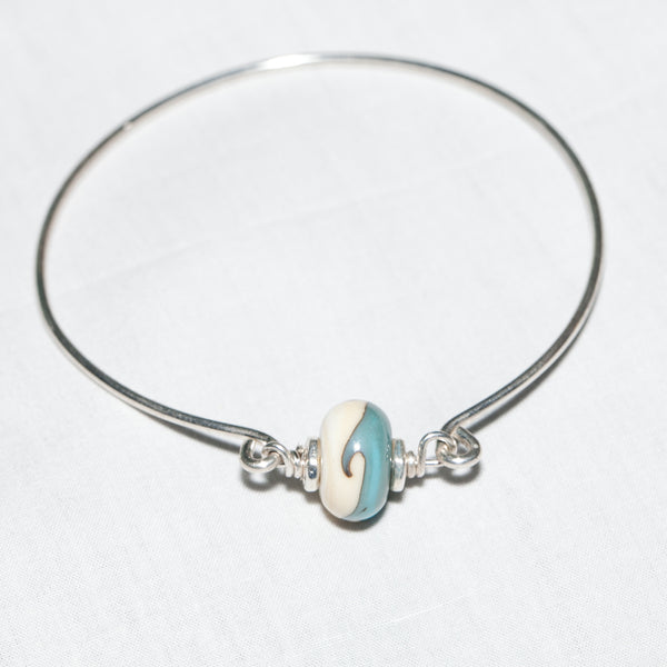 Wave Bead Bangle Bracelet —The C Glass Studio