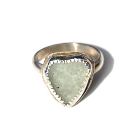 "Authentic sea glass ""heart"" ring —The C Glass Studio"