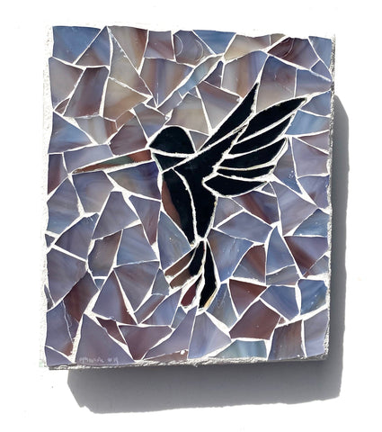 Hummingbird Mirror Mosaic —The C Glass Studio