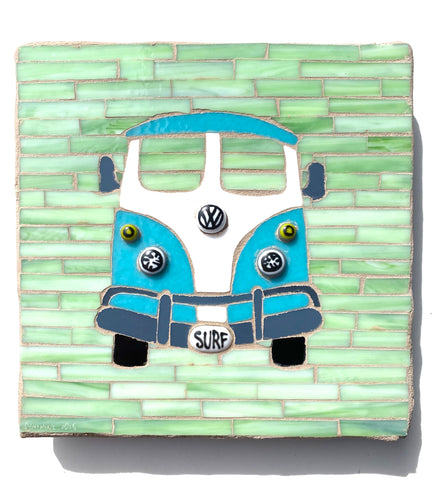 VW Bus Mosaic —The C Glass Studio