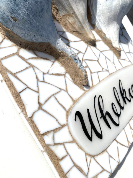 Whelkome Mosaic —The C Glass Studio