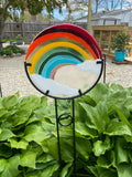 Rainbow Outdoor Art —The C Glass Studio