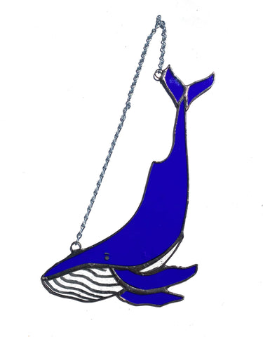 Stained Glass Whale