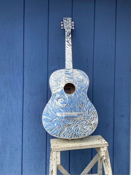 Whirlwind Mirror Mosaic Guitar —The C Glass Studio