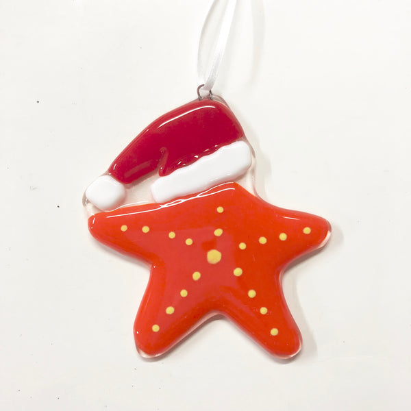 Starfish Santa Ornament —The C Glass Studio