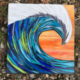 Wave Mosaic —The C Glass Studio